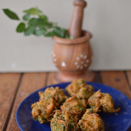 Methi Pakodas Recipe - Fenugreek leaf fritters