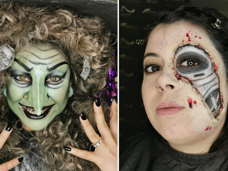 Competition week and Halloween in Make Up Institute Stockholm