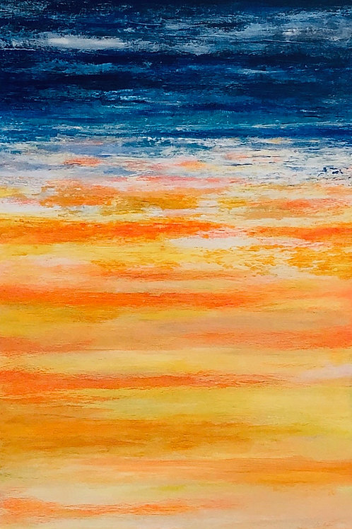 """Rise and Shine 3  15"""" x 30""""   Acrylic on Canvas"""