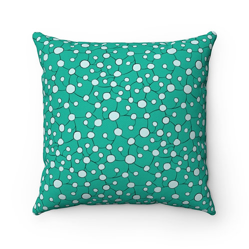 Square Pillow | Glistening Water | Amazonite