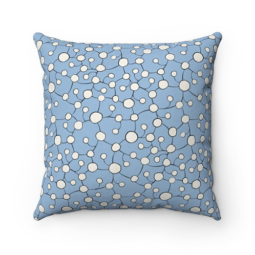 Square Pillow | Glistening Water | Azure