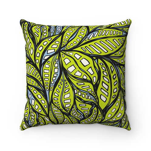Square Pillow | Beneath A Canopy | Olivine