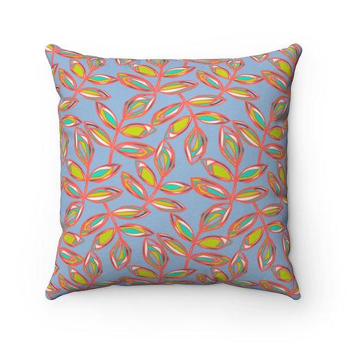 Square Pillow | Blissful Walk | Azure