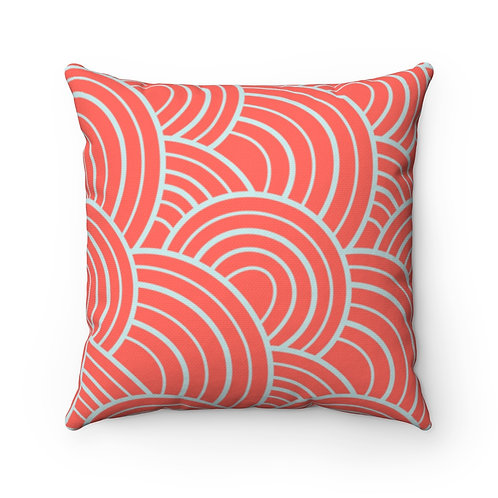 Square Pillow | Glow of Light | Carmine