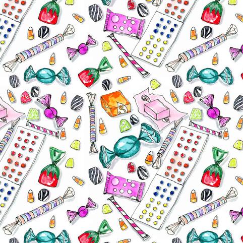 Seamless Pattern: Candy