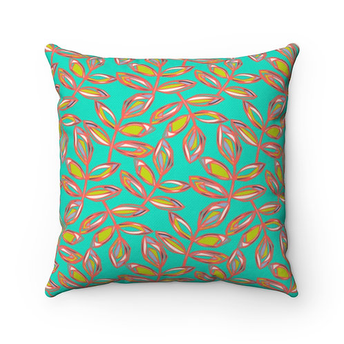 Square Pillow | Blissful Walk | Jade
