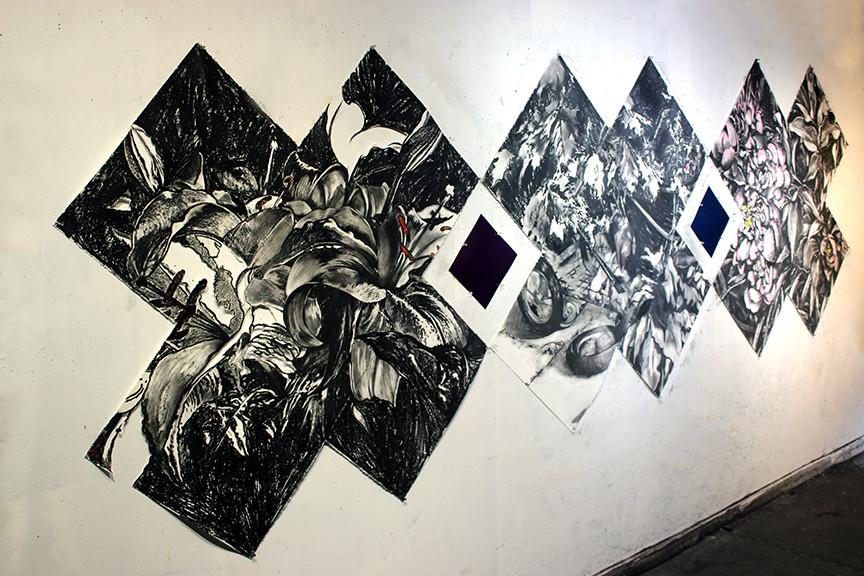 Girl in the Park, 2020, studio installation