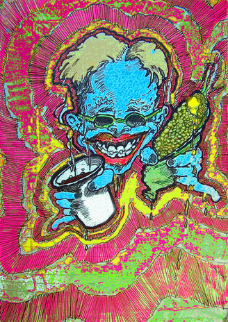 Who could resist pyschedelic  corn?