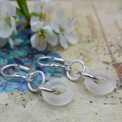 lotus - earrings with sterling