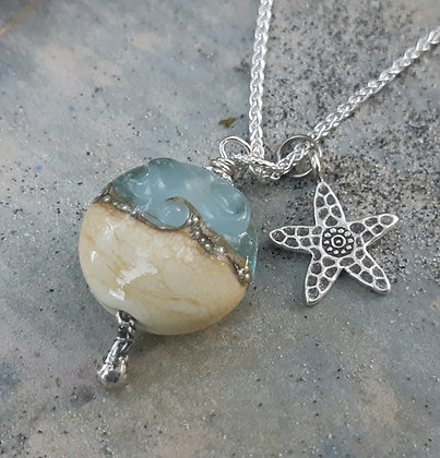 by the sea - pendant on sterling