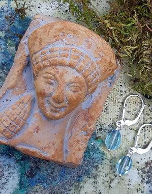 blue topaz - gemstone earrings