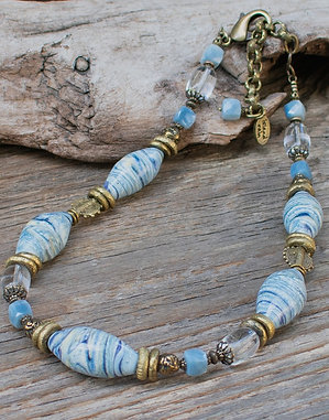 Vanilla Blue Necklace