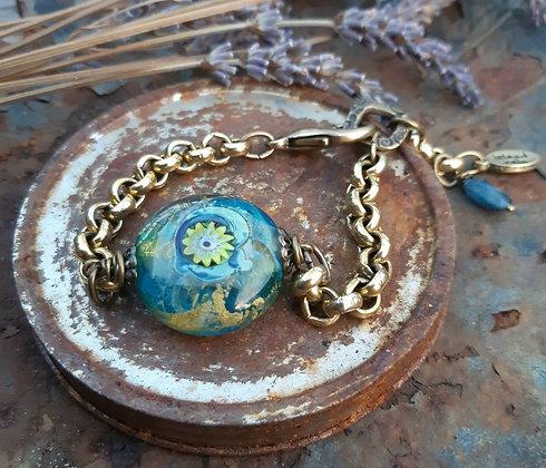 tradewinds - bracelet on brass chain