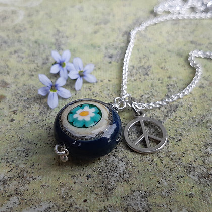 peace - pendant on sterling chain