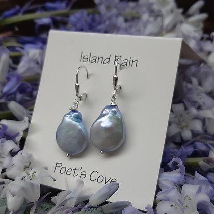 poet's cove - bluebird ...freshwater pearl earrings