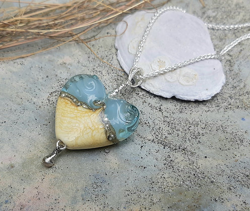 by the sea - heart pendant