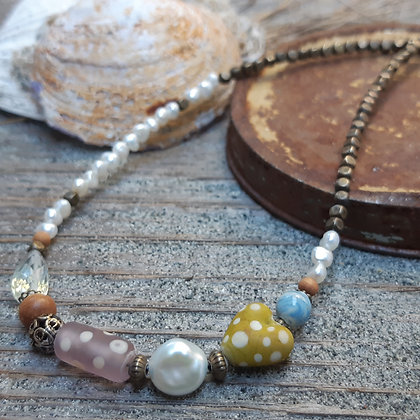 faded and beautiful - summer necklace
