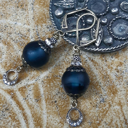 blue salt earrings