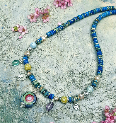 wild garden - necklace with charms
