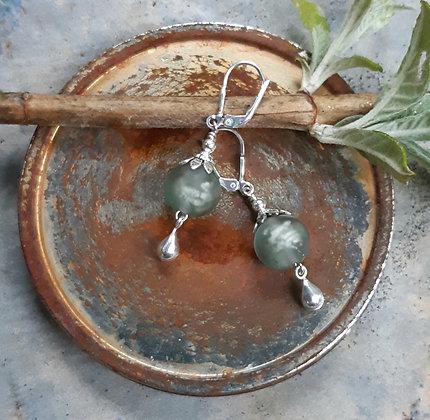 silver moon - earrings