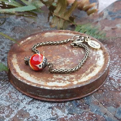 fire poppies - chain bracelet
