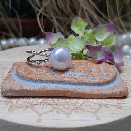 poet's cove - freshwater pearl ring - white