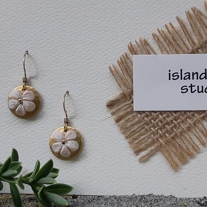 aloha - plumeria clay earrings