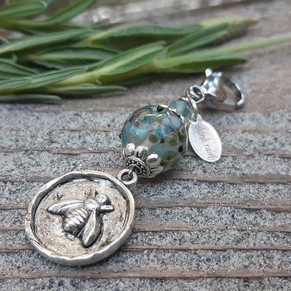 charm - silver bee