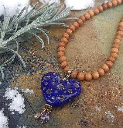 zen - heart pendant