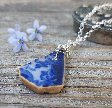 treasures - pottery pendant