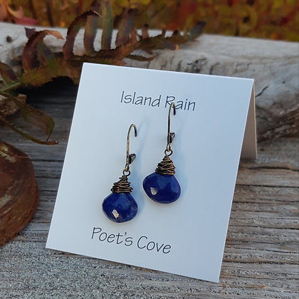 poet's cove - lapis lazuli earrings