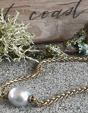 poet's cove  - gray pearl with antiqued brass