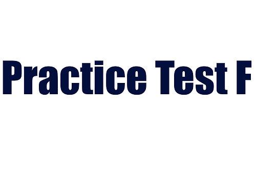 Practice Test F