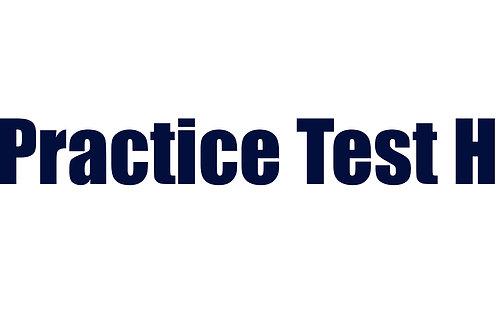 Practice Test H