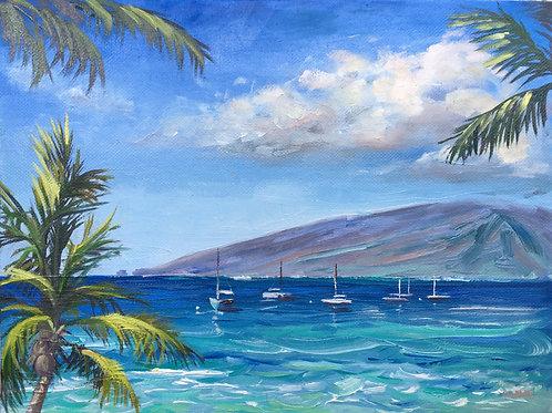 Boats Bobbing- Lahaina