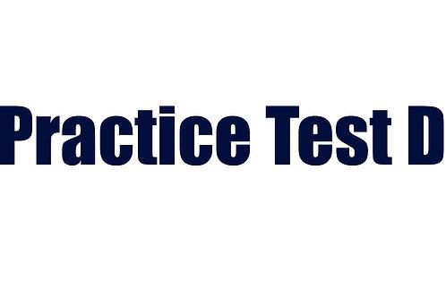 Practice Test D