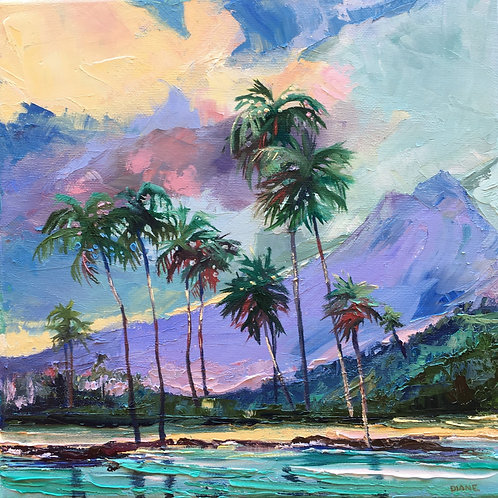Homage to Hill II- Tropical Sunset