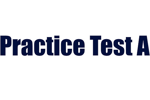 Practice Test A