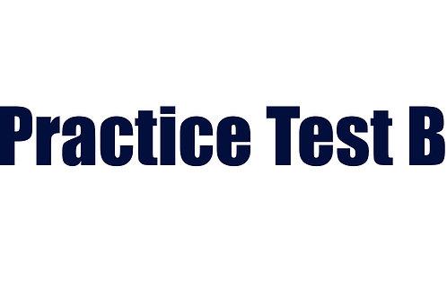 Practice Test B