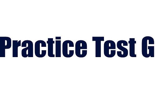 Practice Test G