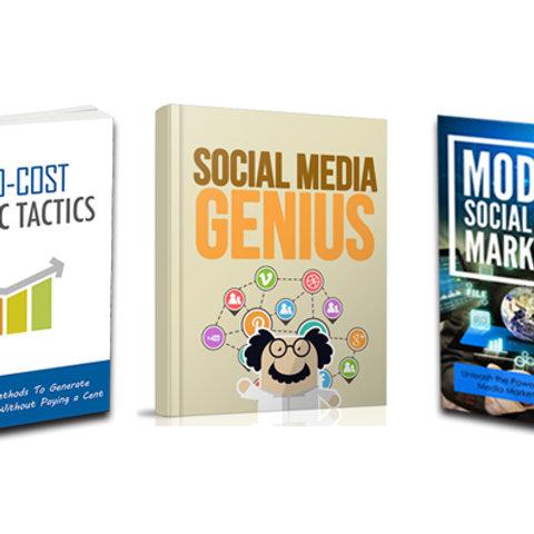 Value 3 Pack - Modern Social Media, Social Media Genius & Zero Cost Traffic
