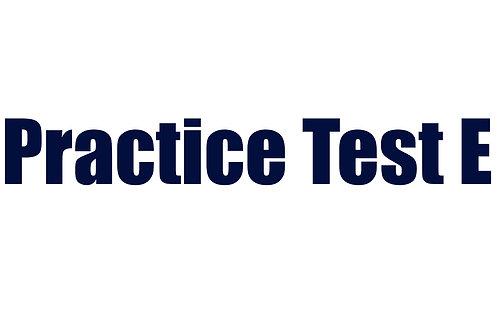 Practice Test E
