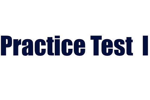 Practice Test I