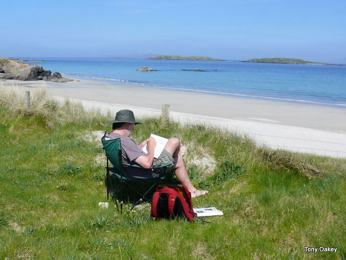 At one of my offices on Renvyle beach, Co. Galway, Ireland