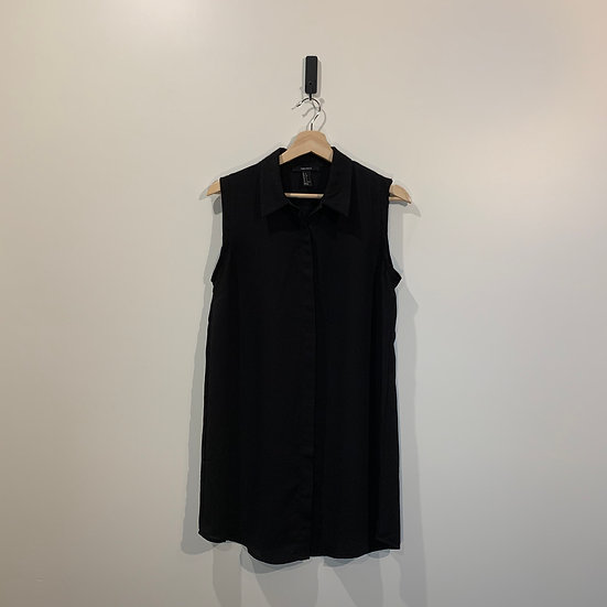 BLUSA POLIESTER SIN MANGAS FOREVER 21