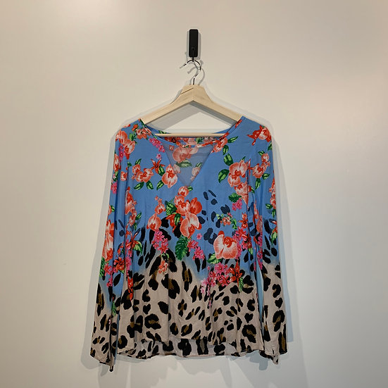 BLUSA VISCOSA ESTAMPADO FLORAL ANIMAL PRINT