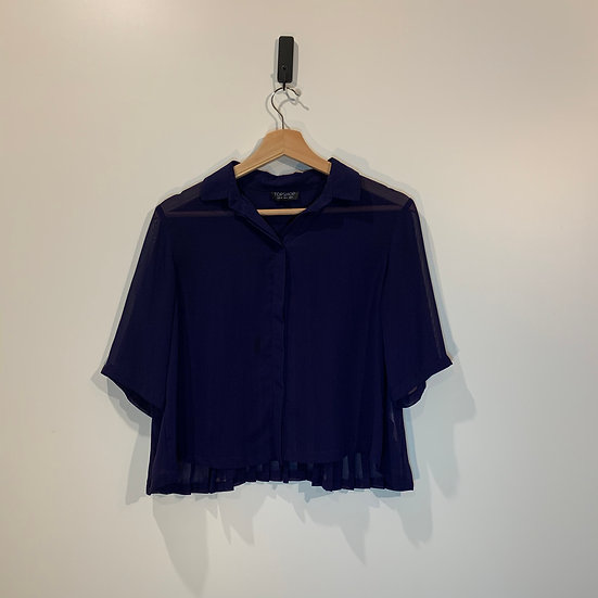 BLUSA MUSELINA CROPPED TOPSHOP