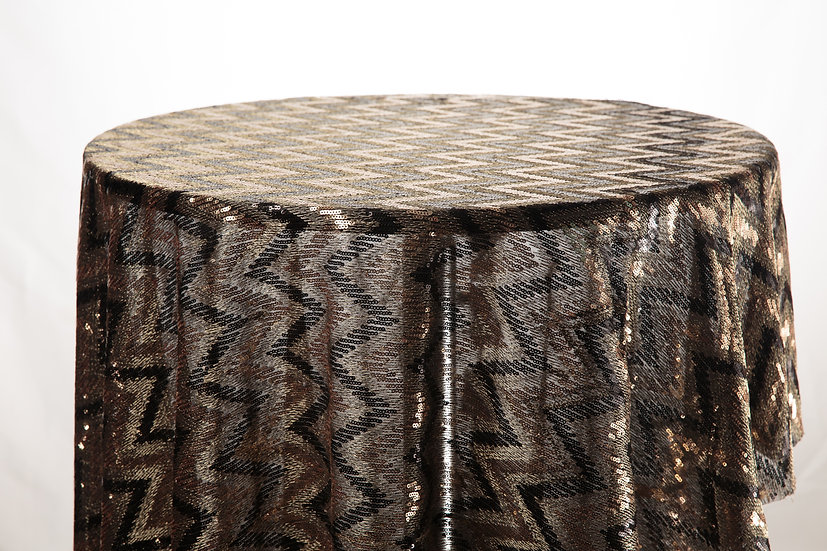 Sequin Cloth (Black and Gold)
