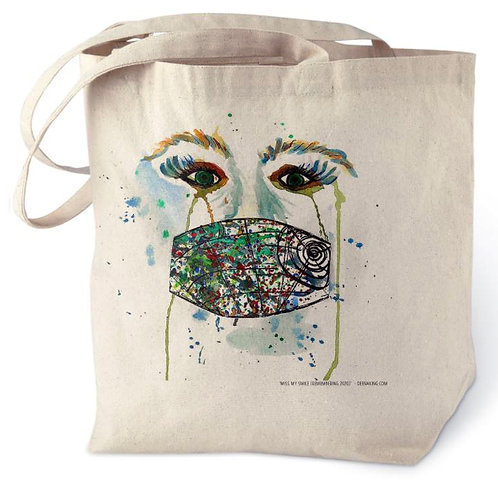 Miss My Smile (Remembering 2020) Cotton Tote Bag