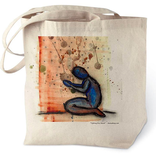 Fighting the Storm Cotton Tote Bag